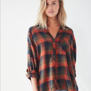 NWOT BDG Urban Outfitters Orange Flannel